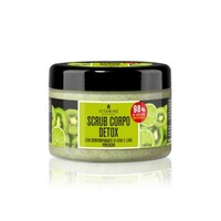 DETOX BODY SCRUB KIWI AND LIME with Fresh Centrifuged Fruit Juice 200 ml